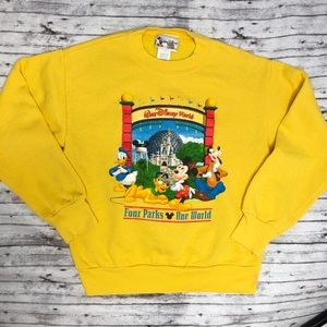 DISNEY Vintage Four Parks One World Sweatshirt